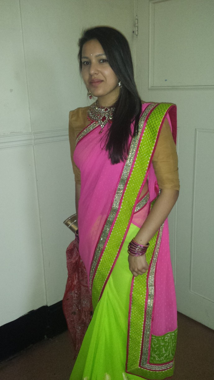 Me In Georgette Sari