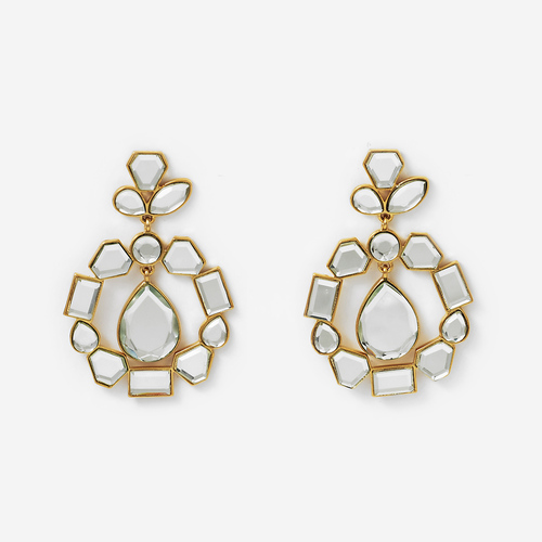 Mirror Cluster Statement Earrings - £54.61