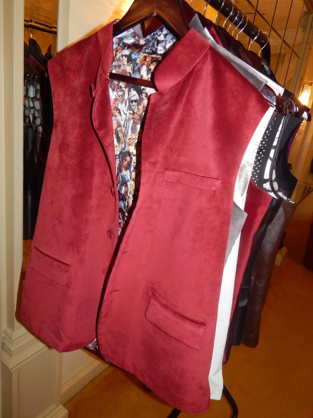 """The Quirky """"Facebook Profile"""" Sleeveless Nehru Jacket"""