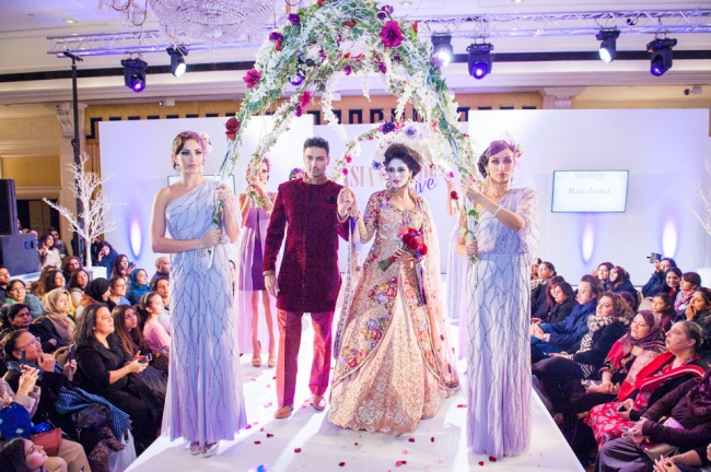 Raishma's Vintage Rose Bride At The Asian Bride Live Show