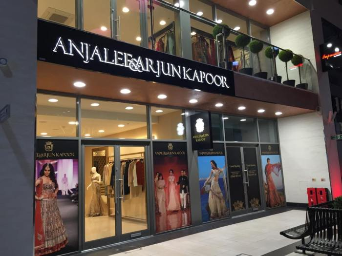 Anjalee and Arjun Kapoor boutique in London