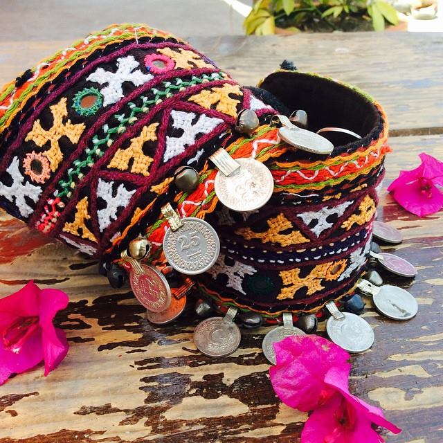 Indian gypsy boot cuffs by Sanapana