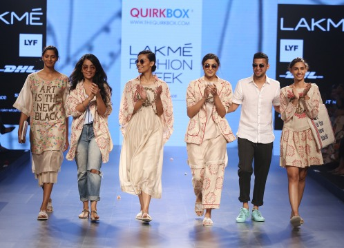 Quirkbox's Jayesh Sachdev and Rixi Bhatia on Day 1 at LFW SR 2016