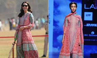 HRH Kate Middleton wearing Anita Dongre