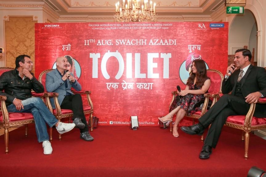 Neeraj Pandey, Anupam Kher, Bhumi Pednekar, and Akshay Kumar