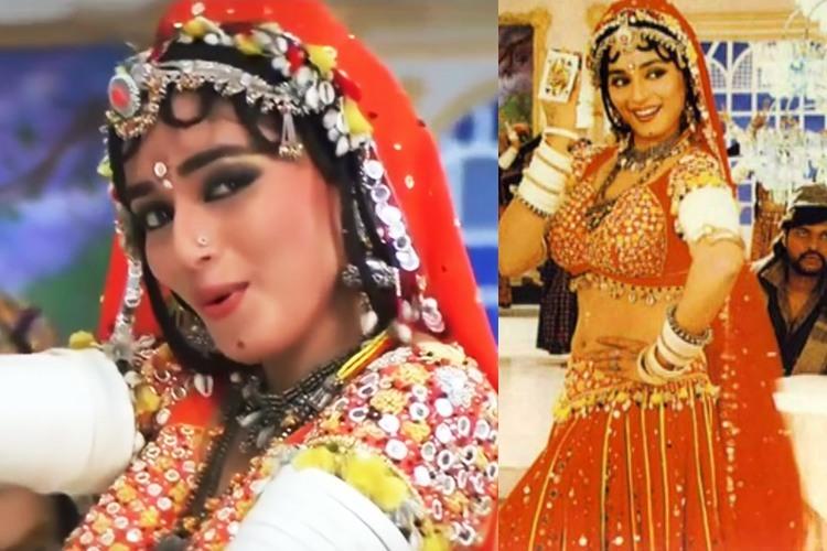 Choli Ke Peeche Kya Hai Outfit Worn By Madhuri Dixit
