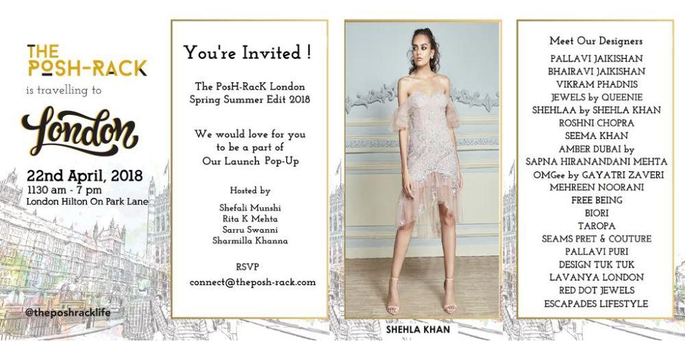 the posh rack - invite