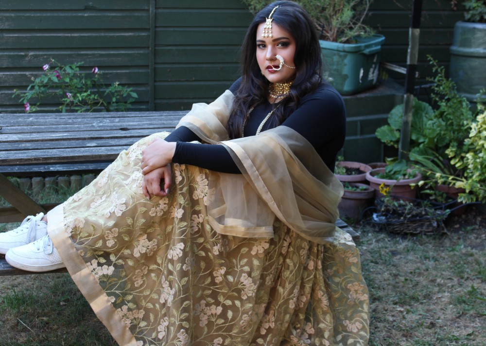 London Ki Ladki Blog - Indian Fashion Inspiration - Lehenga and Sneakers