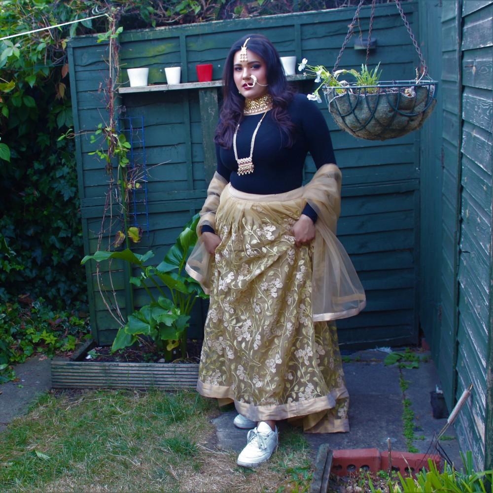 London Ki Ladki Blog - Indian Fashion Inspiration - Lehenga and Sneakers