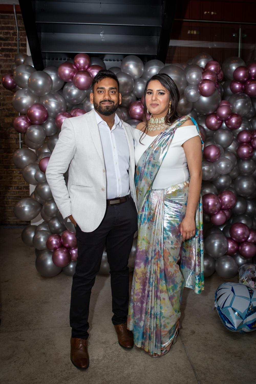 London Ki Ladki Indian Engagement Party | Engagement Decor Ideas | Balloons